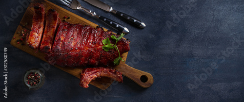 Stampa su Tela Rack of ribs with barbecue sauce