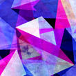 canvas print picture - Watercolor abstract background geometric