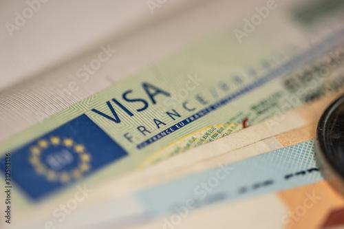 Photo Schengen visa in the passport