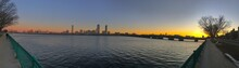 Sunset, Sky, City, Water