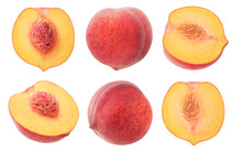 Isolated Peaches. Collection O...