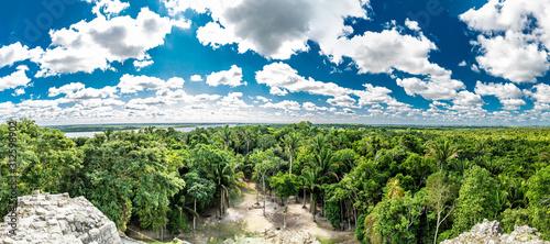 Lamanai archaeological reserve mayan ruins High Temple Belize Wallpaper Mural