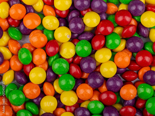 Photo heap of colorful candy