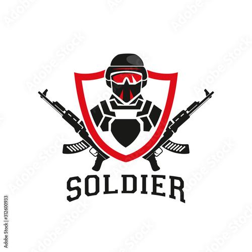 Fotografia Military soldier logo design template