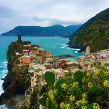 View Above Vernazza On Rainy Day