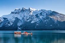 Boat On The Lake Banff Alberta...