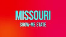 Missouri State Name Text Anima...