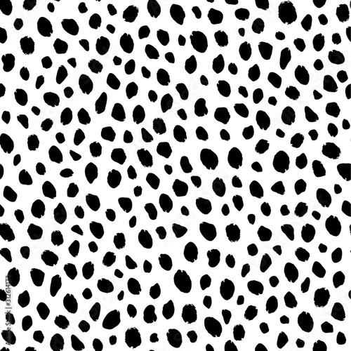 Fotografia Seamless leopard and cheetah animal pattern