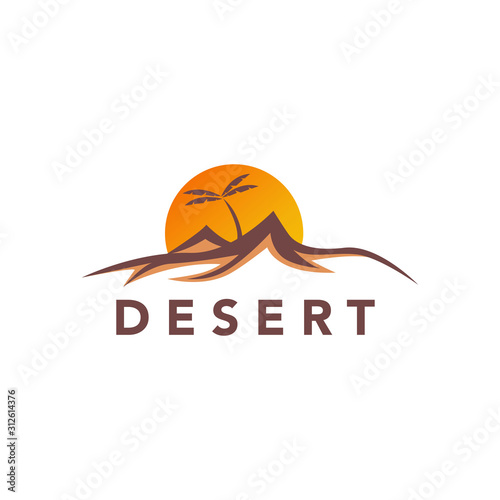 Desert logo design vector stock template Wallpaper Mural