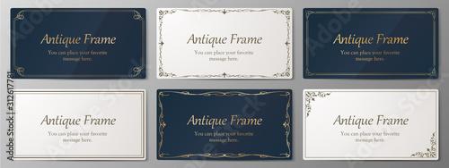 Fototapeta ウエディングカードデザイン、ビンテージな装飾、アンティークな線、優美な模様 obraz
