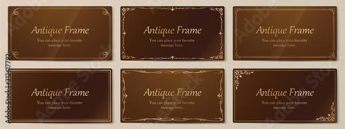 ウエディングカードデザイン、ビンテージな装飾、アンティークな線、優美な模様 Canvas Print
