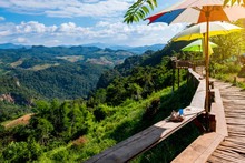 Beautiful Scenic Landscape Mountain And Nature At Ban Jabo, Mae Hong Son, Thailand.