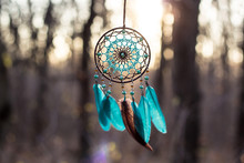 Handmade Dream Catcher With Fe...