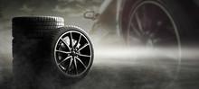 Sportliche Auto Reifen