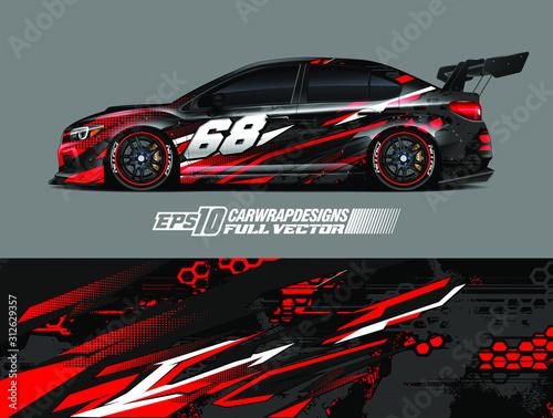 Car wrap design vector Fototapete