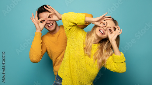 Sweet and crazy couple Wallpaper Mural