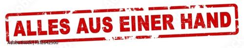Photo nlsb1260 NewLongStampBanner nlsb - german label / banner - deutsch - Stempel - Alles aus einer Hand