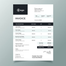 Abstract Black Color Invoice T...