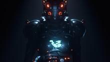 3d Illustration Of Sci-fi Cybo...