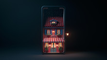 3d Illustration Night Scene Of...