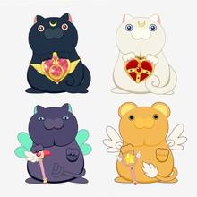4 Animation Cartoon Cat Collec...