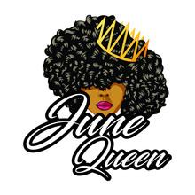 June Queen Birthday Girl Design - VECTOR