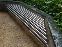 Bench In A Park Made Of Staole...