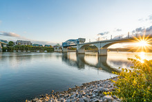 Chattanooga, Tennessee City Skyline At Sunset