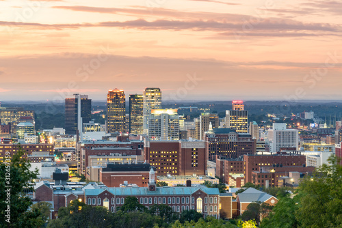 Birmingham, Alabama City Skyline Canvas Print