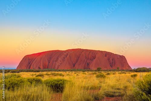 Fotografie, Obraz Uluru or Ayers Rock after sunset