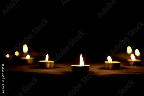 Fotografia, Obraz Memorial Day International Holocaust Remembrance Day The candle burns