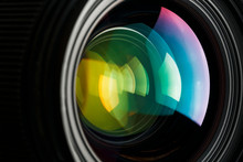 A Camera Lens With A Beautiful...