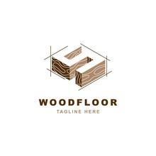 Wood Logo  With Letter S Shape Illustration Vector Design Template