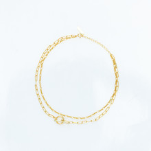 Gold Chain Necklace On White I...