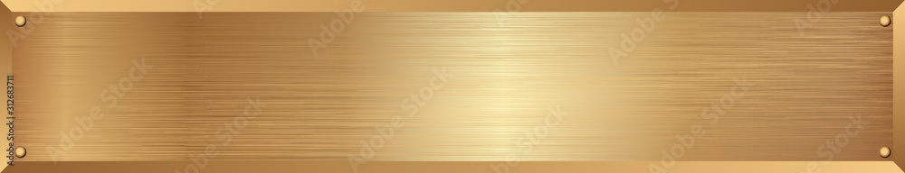 Fototapeta golden metallic textured long banner