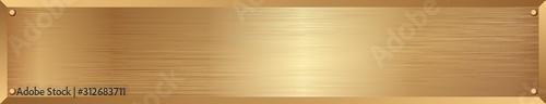 Obraz golden metallic textured long banner - fototapety do salonu