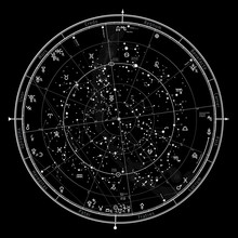 Astrological Celestial Map Of ...