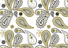 Ethnic Paisley 3d Embroidery P...