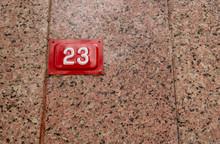 Door Number Written On Granite...
