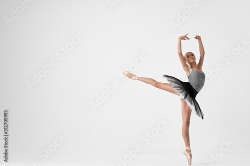 Fotografering ballet dancer on black background
