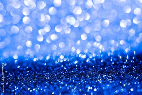 Fototapeta blue glitter abstract background obraz na płótnie