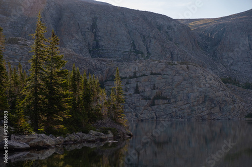 wild mountain lake