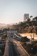 View Of Pacific Coast Highway, In Santa Monica, Los Angeles, California