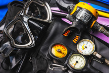 Set Of Scuba Diving Gear Kit