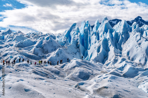 Fotografie, Tablou  Tourists Trekking on Perito Moreno Glacier Near El Calafate, Patagonia, Argentin