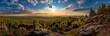 canvas print picture - Sunset at Viewpoint on Ptaci kupy in Jizera Mountains, Liberec, Czech Republic