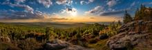 Sunset At Viewpoint On Ptaci Kupy In Jizera Mountains, Liberec, Czech Republic