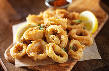 Fried Calamari Squid Appetizer...