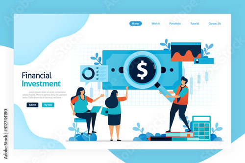 Photo Landing page of financial investment