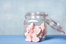 Herzen Marshmellow Im Glas